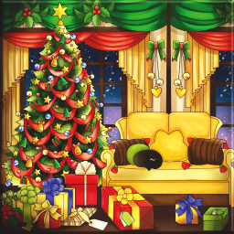 Xmas Living Room PNG