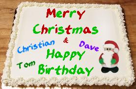 December's Birthday Cake
