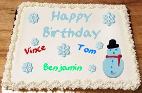 January's Birthday Cake