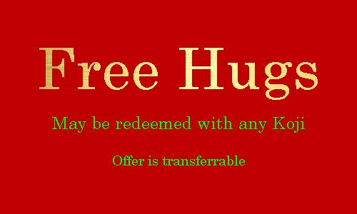Free Hugs Card