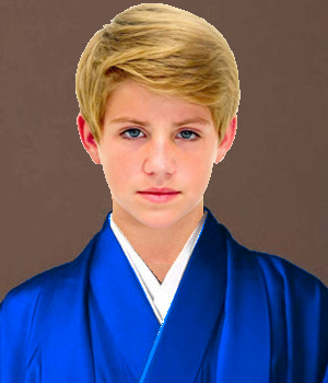 Noah in a Blue Kimono