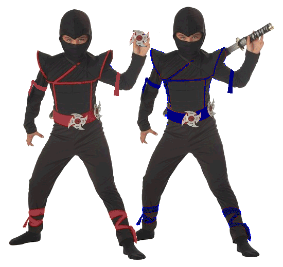 Jason and Jonas as Ninjas
